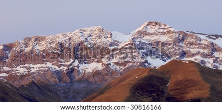 Snowy mountain in the Pyrenees