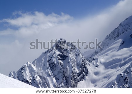 Snowy Mountains. Caucasus Mountains, Dombay