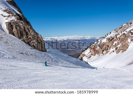 Snowy mountains in Spain (Masella) - stock photo