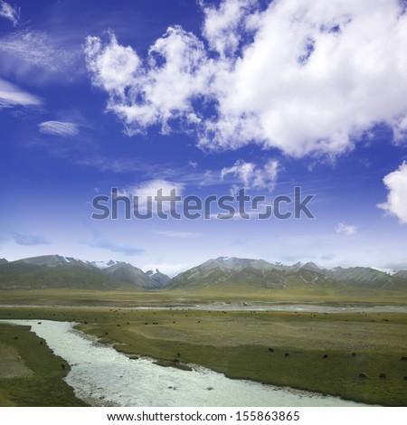 Snowy River - stock photo