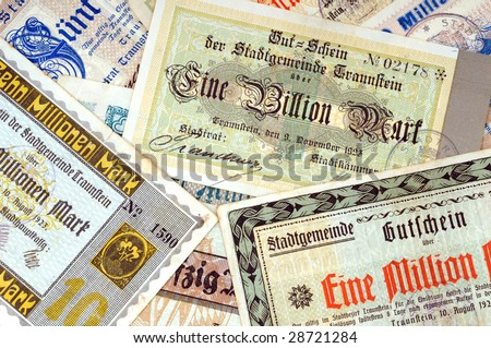 "So called ""Emergency money"" from the German Inflation 1923"