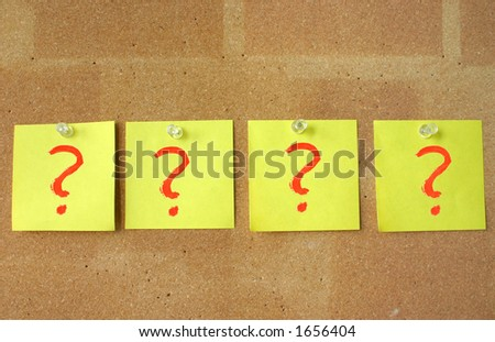 so many questions - stock photo