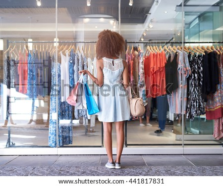 So much shopping to be done - stock photo