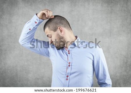so my sweat does not stink - stock photo