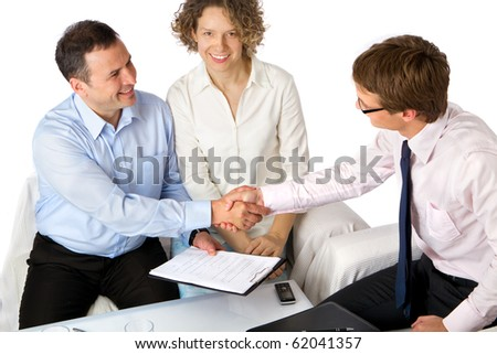 So, we have a deal! - stock photo