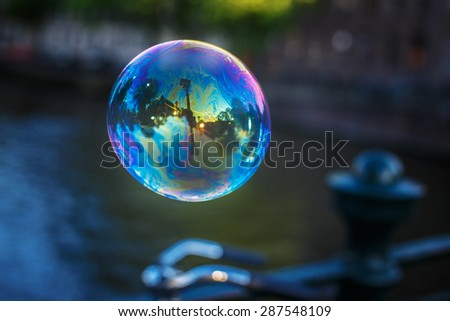 Soap Bubble. - stock photo