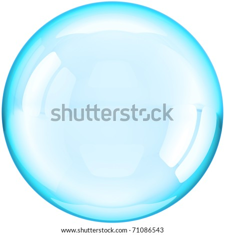 Soap bubble ball water drop translucent foam colorless crystal. Clear shampoo aqua liquid sphere blank button transparent. Detailed 3d render. Isolated on white background - stock photo