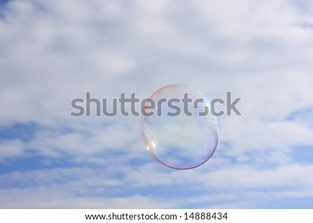 Soap Bubble in the sky - stock photo