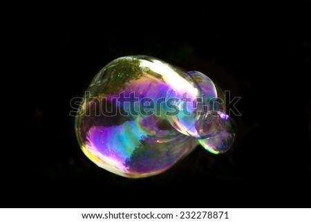 soap bubble on isolated background - stock photo
