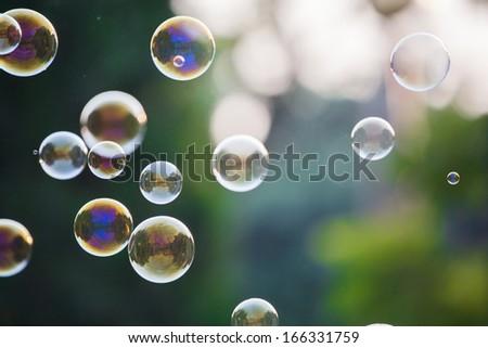 Soap Bubbles - stock photo