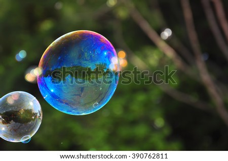 Soap bubbles - stock photo