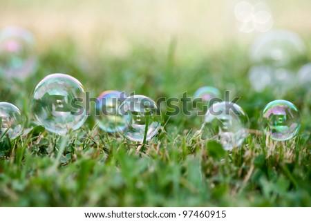 Soap-bubbles - stock photo