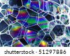 soap bubbles blue - stock photo