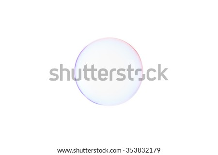 soap bubbles isolated on white background - stock photo