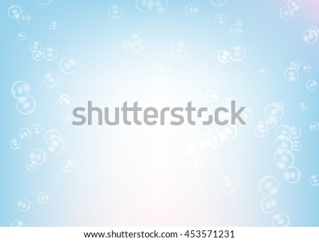 Soap bubbles on light  blue background