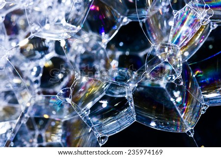 Soap bubbles texture.  - stock photo