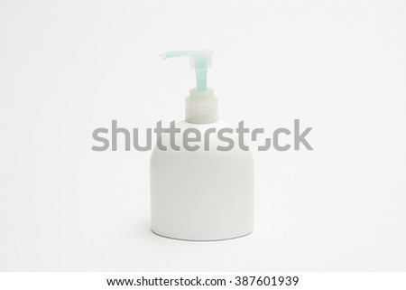 soap dispenser on white
