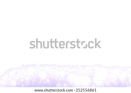 Soap foam and bubbles for background - stock photo