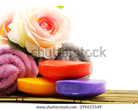 soap for clean and health skin care with vitamin from natural - stock photo