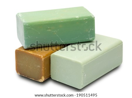 Soap in a white background