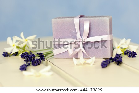 soap of lavender - stock photo