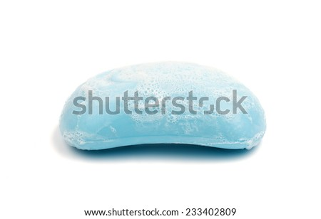 soap  on a white background - stock photo