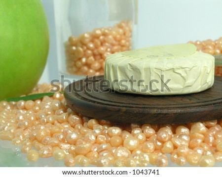 soap on bath caviar - stock photo