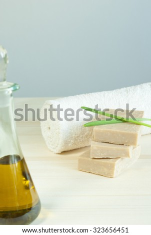 soaps balance and cosmetic oil