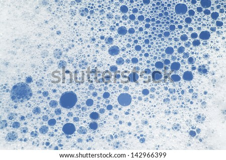 Soapsuds background with air bubbles abstract texture - stock photo