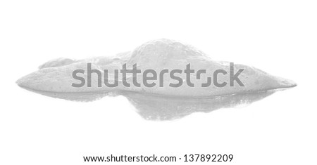 Soapsuds on a beige background - stock photo