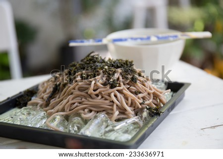 Soba noodle - stock photo