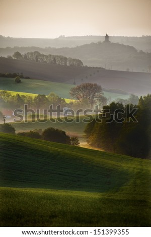 Sobotka in czech paradise - stock photo