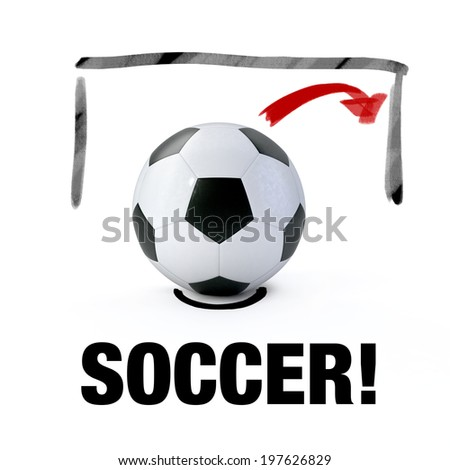 SOCCER! - stock photo