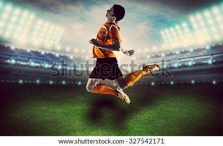Soccer. - stock photo