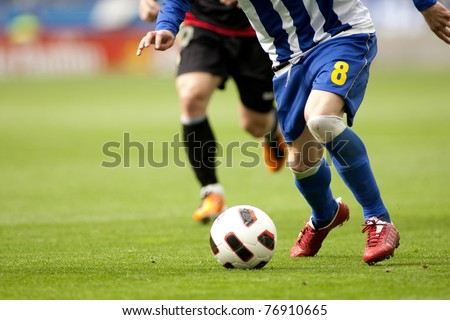 Soccer attack action - stock photo