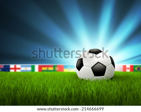 Soccer Background - stock photo