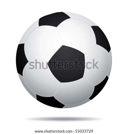 Soccer ball bouncing.