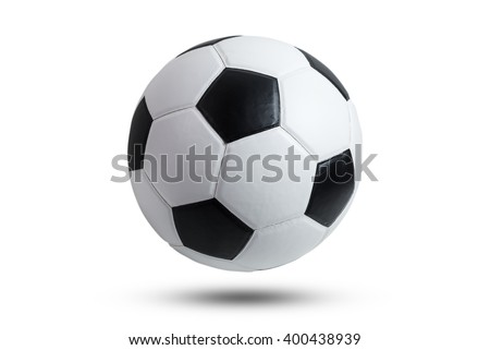 soccer ball closeup image. soccer ball isolated on white background. - stock photo