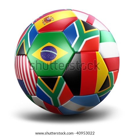 Soccer Ball (3D Illustration) - stock photo