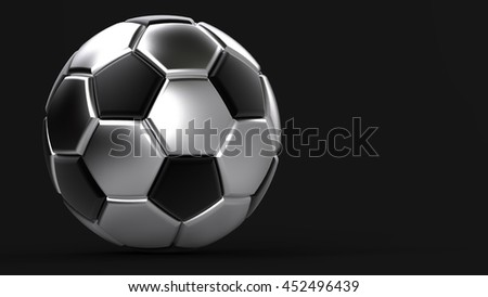 Soccer ball. 3D illustration. 3D CG. Format 16:9. High resolution.