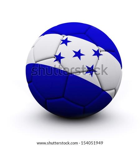 Soccer ball flag Honduras - 3d render - stock photo
