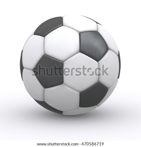 Soccer ball (football ball) isolated on white background with shadow - 3D illustration