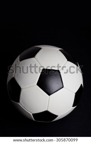 Soccer Ball, football with black Background