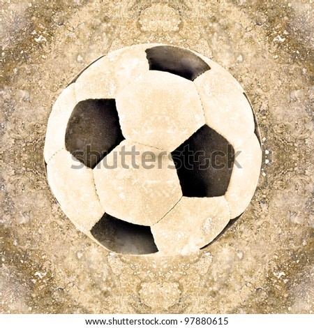soccer ball illustration in marble background - stock photo