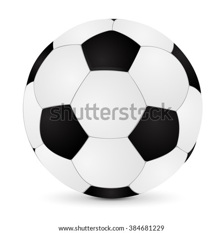 Soccer ball.  illustration isolated on white background. Raster version