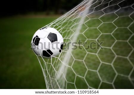 soccer ball goal stock photo edit now 110918564 shutterstock