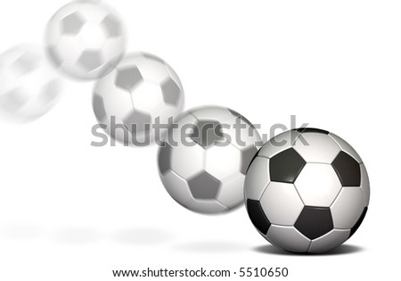 Soccer ball in motion with a blur - stock photo