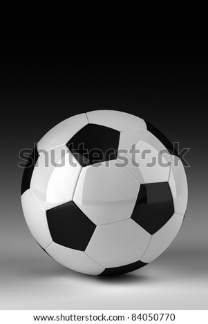 Soccer ball in studio - stock photo