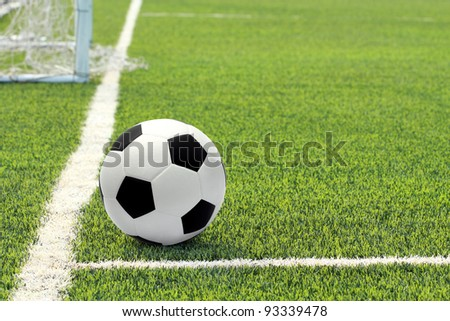Soccer ball in the field