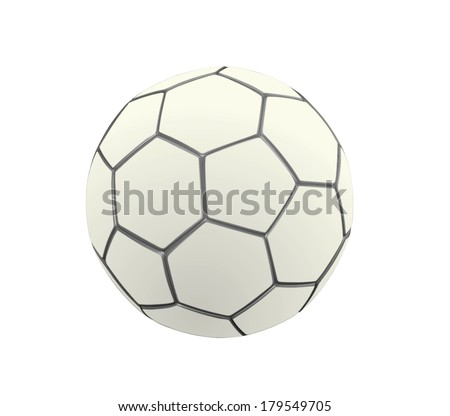 Soccer Ball in White Color - stock photo